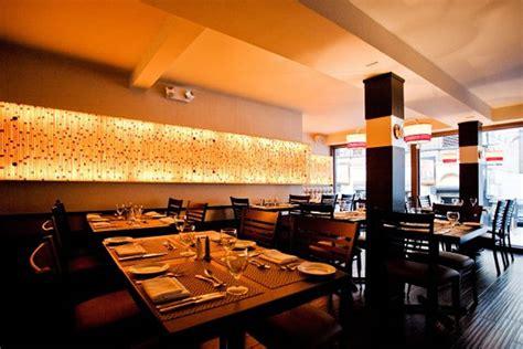 contemporary restaurant wall interior decoration glass house tavern manhattan nyc new york by