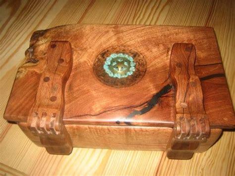 custom  mesquite wood box  wooden hinges