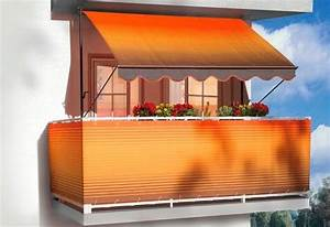 angerer freizeitmobel balkonsichtschutz meterware With markise balkon mit tapete türkis braun gestreift