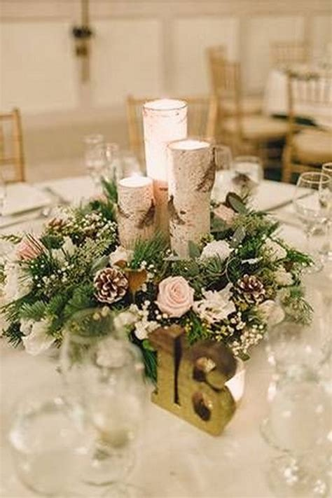 rustic chic winter wedding centerpieces emmalovesweddings
