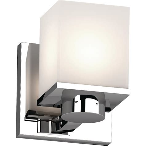 Square Wall Sconce - volume lighting sharyn 1 light 4 5 in chrome indoor