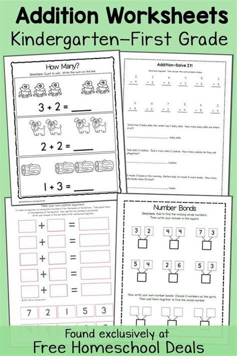 free addition worksheets k 1 instant
