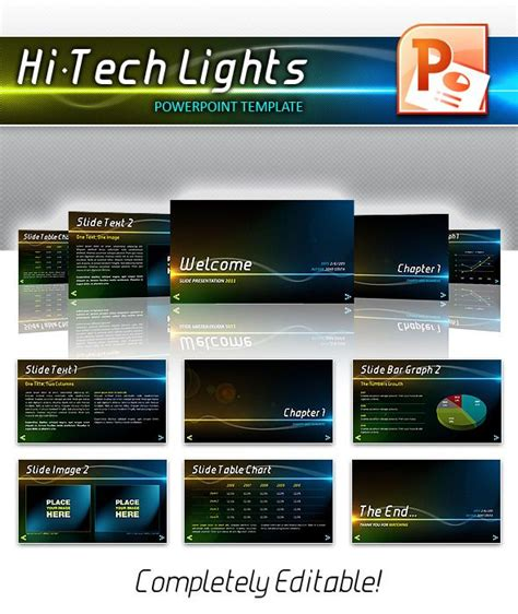 tech lights powerpoint powerpoint powerpoint