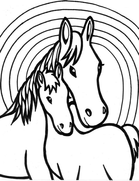 coloring pages  girls horse  coloring home