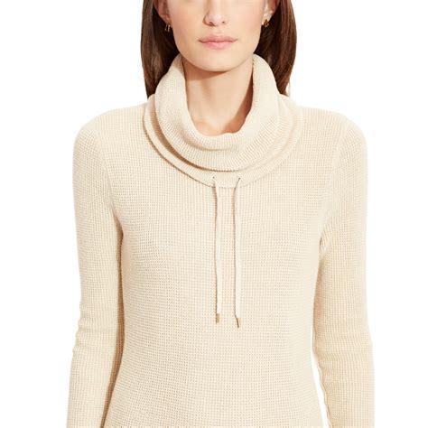 waffle knit sweater ralph waffle knit sweater dress in lyst