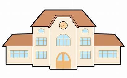 Clipart Cartoon College Building Transparent Restaurant Hospital