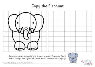 animal grid copy puzzles