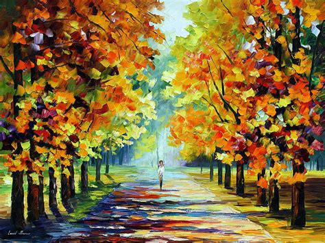 sunny morning palette knife oil painting  canvas