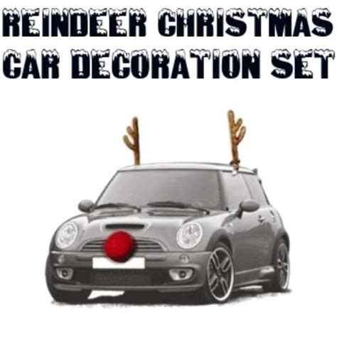 reindeer christmas car decoration set new easy