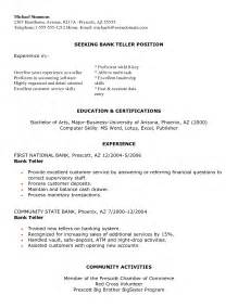 resume of a experienced banker sle resume for experienced banking professional resume sles