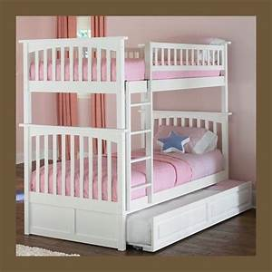 Bunk Beds For Kids Twin over Twin - White -- Girls and ...