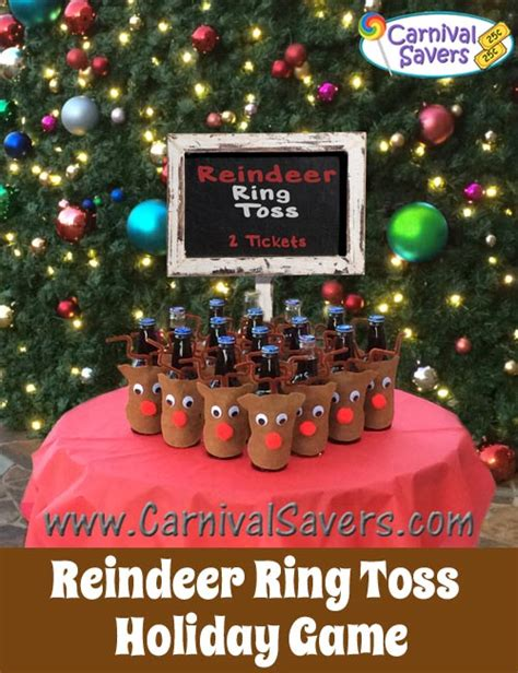 easy christmas games for adults reindeer ring toss and easy carnival