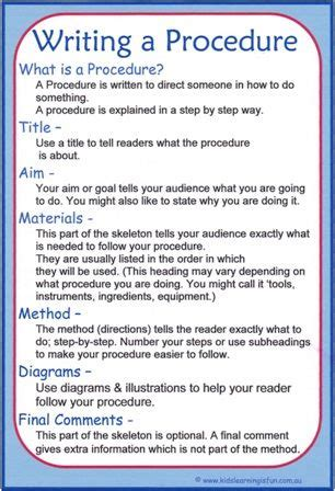 procedural writing exles of procedural texts search educaton texts