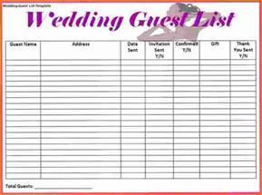 wedding guest list 4 wedding guest list spreadsheet expense report