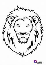 Lion Coloring Face Printable Pages Bubakids Animal Fantastic Ads Google Scaled sketch template