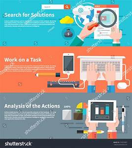 Search Solutions Infographic Concept Businessman Using ...