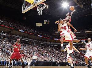 Cavaliers forward LeBron James dunks on Heat guard... - SI ...