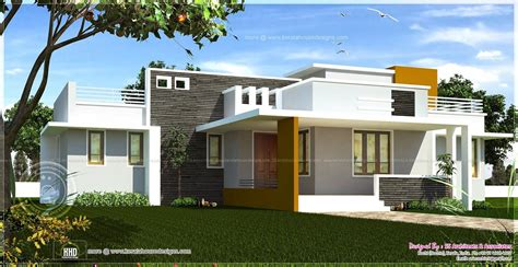 Kerala Home Design One Floor Plan by Excellent Single Home Designs Single Floor Contemporary
