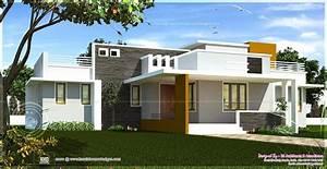 Excellent Single Home Designs Single Floor Contemporary House Design Kerala Home Design And Floo