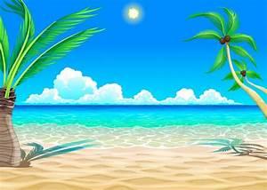 Beach cartoon illustration | Free Vector