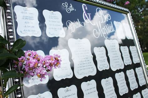 table charts for wedding reception framed wedding table seating chart at outdoor reception