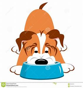 Dog With Bowl stock vector. Illustration of food, pets ...