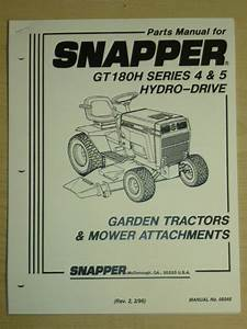 1996 Snapper Riding Lawn Mower Parts Manual  Manual No