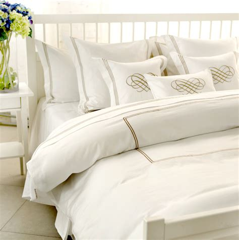 White And Gold Bed Covers by Chic White Hotel Vintage Bedding Gold Embroidery Duvet