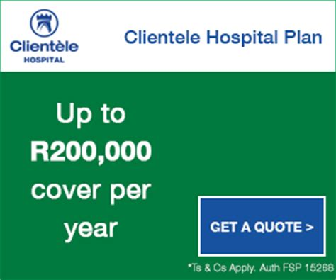 National health insurance will cover all south africans and legal permanent residents. CLIENTELE LIFE HOSPITAL COVER - Quotes Comparison