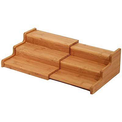 lipper international  placa de madera de bambu estante  soporte de tapa de olla