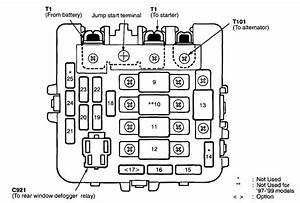 Acura Nsx  1997  U2013 2000   U2013 Fuse Box Diagram