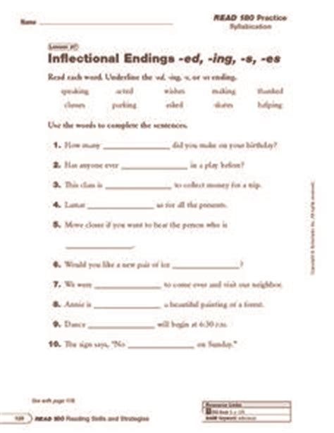 inflectional endings ed ing s and es 2nd 4th grade