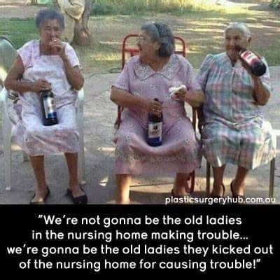 Young Old Lady Meme - two old ladies drinking www pixshark com images galleries with a bite