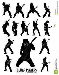 Guitar Players Silhouette Series One Stock Vector - Image ...