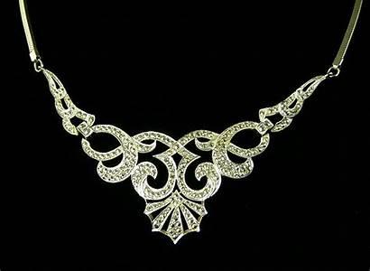 Deco Jewelry Jewellery Background 1920 Necklace Jewelery