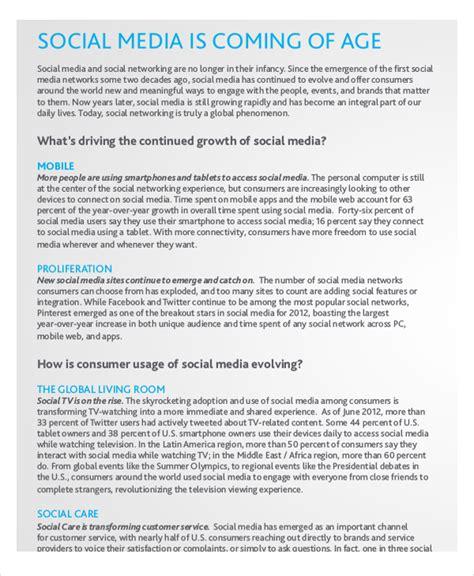social media report template report template 15 free word pdf documents free premium templates