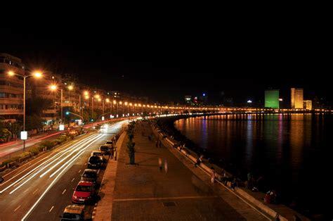 night view marine drive mumbai wallpaper  baltana