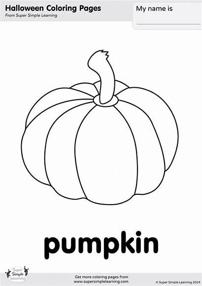 Pumpkin Coloring Pages Halloween Worksheets Simple Super