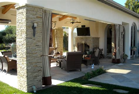 Outdoor Curtain Hardware Patio Contemporary With Cabana