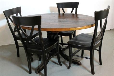 farmhouse style round dining table custom 50 quot round farm style dining table from old pine by