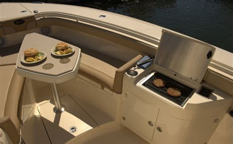 Boat Cockpit Grill by 187 Scout 320 Lxf This Center Console Takes Center Stage