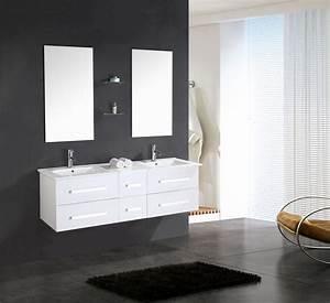 Meuble Salle De Bain 150 Cm : white rome meuble de salle de bain 150 cm lavabo inclus ~ Dailycaller-alerts.com Idées de Décoration