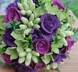 Beautiful Pictures Of Purple Roses   Bouquet Idea