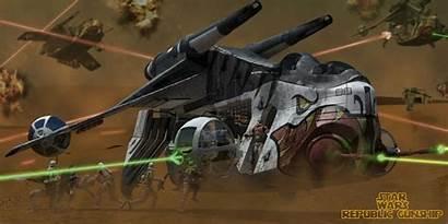 Gunship Republic Wars Deviantart Ships Starfighter Laat