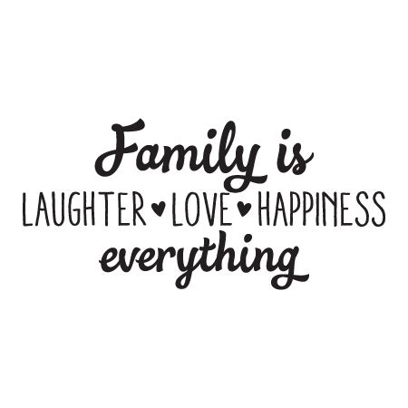 hearts wedding place card family is laughter happiness wall quotes decal