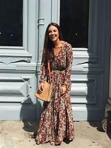 Robe Style Boheme : robe longue boheme robe longue col v bersun ~ Dallasstarsshop.com Idées de Décoration