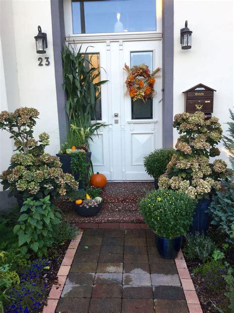 Deko Garten Eingang by Herbst Deko F 252 R Den Eingangsbereich Unser Garten