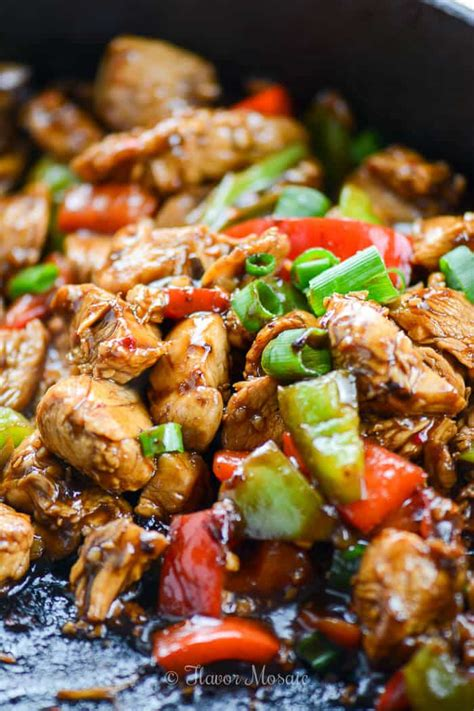 easy kung pao chicken recipe flavor mosaic