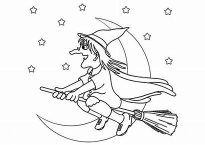 Witch Coloring Pages Halloween Printable Hat Witches