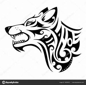 Forma de tatuaje lobo — Vector de stock #150050670 ...